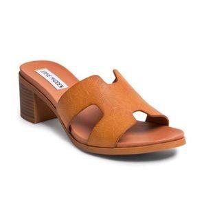 NEW Steve Madden brown slide chunky heel sandal